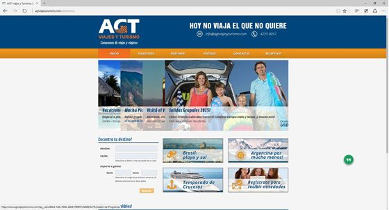 Imagen de AGT Viajes y Turismo - Diseño Web
