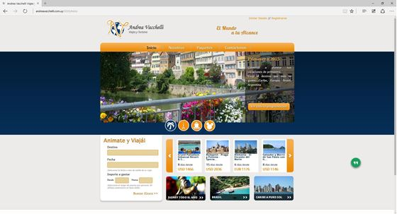 Imagen de Andrea Vacchelli Viajes - Diseño Web