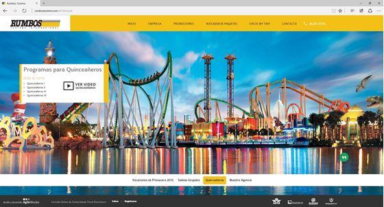 Imagen de Rumbos Turismo - Diseño Web