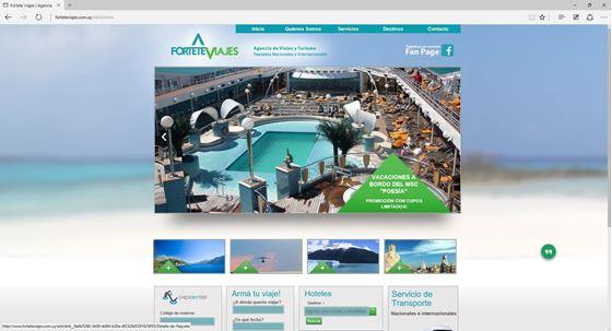 Imagen de Fortete Viajes - Diseño Web