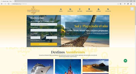 Imagen de Namaste Viajes - Diseño Web