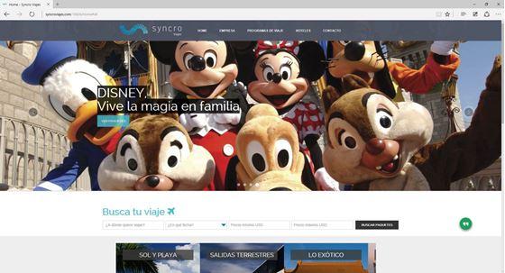 Imagen de Syncro Viajes - Diseño Web