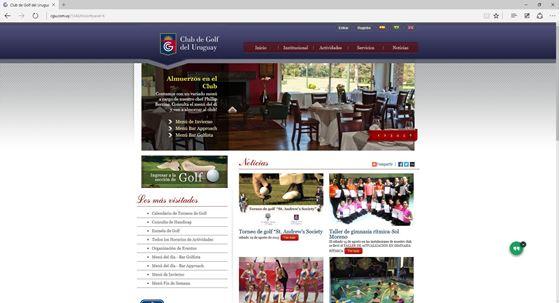 Imagen de Club de Golf del Uruguay - Diseño Web