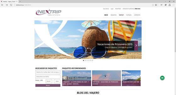 Imagen de Nextrip Viajes - Diseño Web