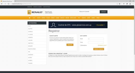Imagen de Repuestos Renault - Diseño Web Ecommerce