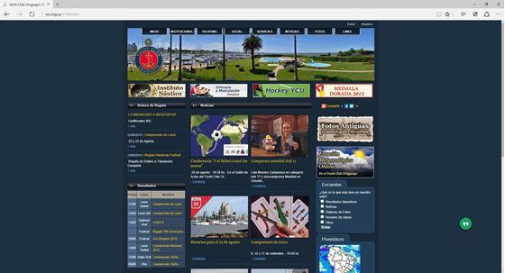Imagen de Yacht Club Uruguayo - Diseño Web