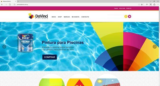Imagen de Pinturas DaVinci - Diseño Web Ecommerce