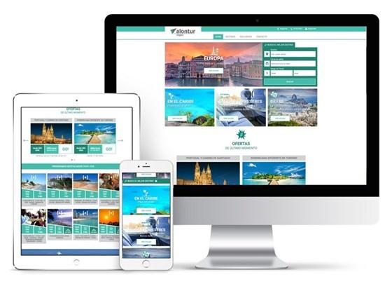 Imagen de Alontur Viajes y Turismo - Diseño Web