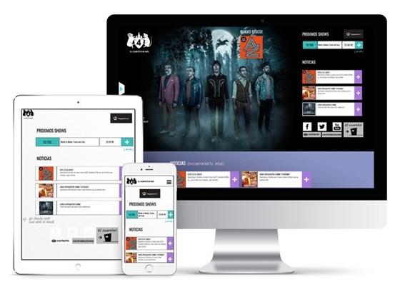 Imagen de Cuarteto de Nos - Diseño Web